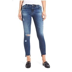 Ag Super Skinny Jeans  Ankle Distressed Size 25